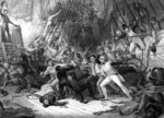 Nelson boarding the 'San Josef', Battle of Cape St Vincent Fine Art Print by Daniel Maclise