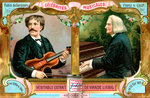 Pablo de Sarasate and Franz Liszt Wall Art & Canvas Prints by Italian School