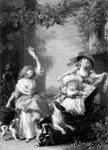 The Royal Princesses, children of King George III Fine Art Print by Lincoln Seligman
