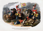 Third Horse, or Carabiniers, at the Battle of Warburg Fine Art Print by Massimo Taparelli d' Azeglio
