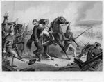 The death of Colonel Rawle at the Battle of Trenton Wall Art & Canvas Prints by Ron Embleton