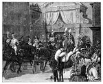 Entry of the Princess Alexandra into London Postcards, Greetings Cards, Art Prints, Canvas, Framed Pictures & Wall Art by Isaac Robert Cruikshank