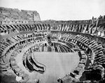 Interior of the Colosseum, Rome Wall Art & Canvas Prints by Rudolph von Alt