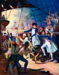Nelson at the Battle of the Nile Fine Art Print by William Heath