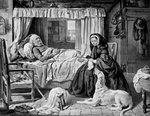 The Queen in a Cottage Bedroom Fine Art Print by Henry Augustin Valentin