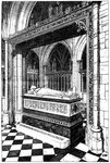 Monument to the late Duke of Westminster, Eccleston Church, Eccleston, Cheshire Wall Art & Canvas Prints by Augustus Charles Pugin