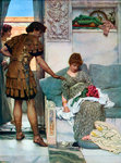 A Silent Greeting Wall Art & Canvas Prints by Sir Lawrence Alma-Tadema