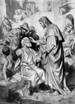 Christ healing the blind Fine Art Print by Hans Holbein The Younger