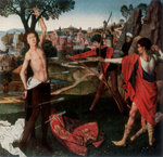 Martyrdom of St Sebastian Fine Art Print by Clive Uptton
