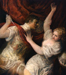 Lucretia and Tarquinius Wall Art & Canvas Prints by Master of Marradi
