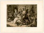 The seizure of Roger de Mortimer (1287-1330) at Nottingham Castle Fine Art Print by English School