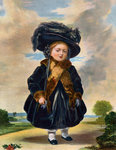 Queen Victoria (1819-1901) aged four years old Wall Art & Canvas Prints by Sydney Prior Hall
