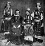 Romany women, Albania Fine Art Print by Michele Cusa