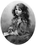 The Queen Mother as a child Fine Art Print by Kate Perugini