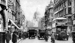 Fleet Street as seen from opposite Salisbury Court, London Wall Art & Canvas Prints by English Photographer