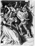 The Murder of Cenulph (d821), King of Mercia Wall Art & Canvas Prints by Peter Jackson