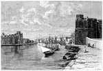 Bizerta, viewed from the Kasbah Fine Art Print by English School