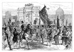 Demonstration of the Paris Freemasons, France Fine Art Print by Jacques Francois Joseph Swebach