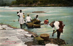 Washerwomen, Charges River, Panama Wall Art & Canvas Prints by Juan Alcazar