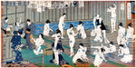 Bath house scene, a print by Toyohara Kunichika Wall Art & Canvas Prints by Juan Alcazar