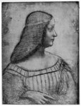 Portrait of Isabella d'Este Postcards, Greetings Cards, Art Prints, Canvas, Framed Pictures & Wall Art by Alessandro, Araldi