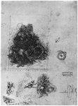 Studies for 'The Virgin and Child with St Anne and John the Baptist' Fine Art Print by Rembrandt Harmensz. van Rijn