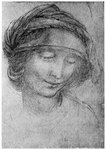Study for the head of St Anne Postcards, Greetings Cards, Art Prints, Canvas, Framed Pictures, T-shirts & Wall Art by William Hogarth