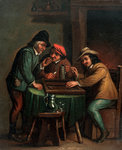 Backgammon Players Fine Art Print by English School
