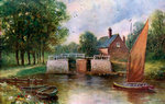 Coltishall Lock, Norfolk Fine Art Print by Charles Filiger