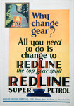 Red Line petrol advert Fine Art Print by American Photographer