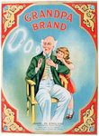 Advert for Grandpa Brand pipe tobacco Wall Art & Canvas Prints by James Hayllar