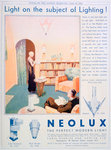 Advert for Neolux light fittings Fine Art Print by Anonymous