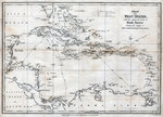 Chart of the West Indies, with the adjacent Coast of South America Postcards, Greetings Cards, Art Prints, Canvas, Framed Pictures & Wall Art by Trevor Neal