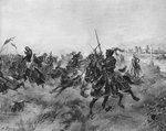 The Battle of the Spurs Wall Art & Canvas Prints by Sir John Gilbert