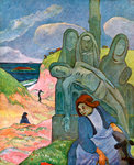 The Green Christ Fine Art Print by Paul Gauguin