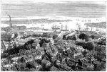 View of Boston from Bunker's Hill, Massachusetts Fine Art Print by English School