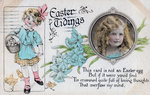'Easter Tidings', greetings card Wall Art & Canvas Prints by John Atkinson Grimshaw