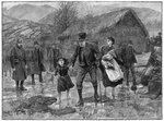 Scene at an Irish eviction in County Kerry Postcards, Greetings Cards, Art Prints, Canvas, Framed Pictures, T-shirts & Wall Art by Rembrandt Harmensz. van Rijn