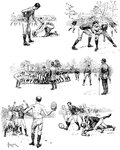 Football Sketches Fine Art Print by English School