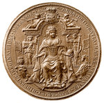 Third Great Seal of Queen Anne, obverse Wall Art & Canvas Prints by George Dawe