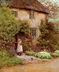 The Cottage Door Wall Art & Canvas Prints by Julie Nicholls