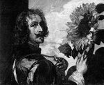 Anthony van Dyck, self-portrait with a sunflower Wall Art & Canvas Prints by English Photographer