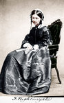 Florence Nightingale, English nurse and hospital reformer Fine Art Print by Clive Uptton
