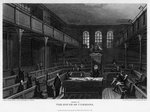Chamber of the House of Commons, Westminster, London Fine Art Print by English School