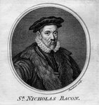 Sir Nicholas Bacon, 16th century English politician Postcards, Greetings Cards, Art Prints, Canvas, Framed Pictures, T-shirts & Wall Art by Thomas Hicks