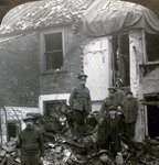 Destruction wrought by German Zeppelin bombs, World War I Fine Art Print by English Photographer