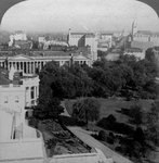 The White House and the Treasury Building, Washington DC, USA Fine Art Print by English School