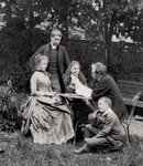 Gustave Eiffel, French engineer, with his family Fine Art Print by Newell Convers Wyeth