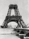 The Eiffel Tower under construction, Paris Fine Art Print by French School