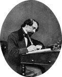 Charles Dickens, British novelist Wall Art & Canvas Prints by Peter Edwards